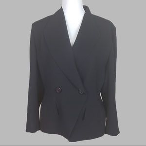 Christian Dior black blazer size 14 P